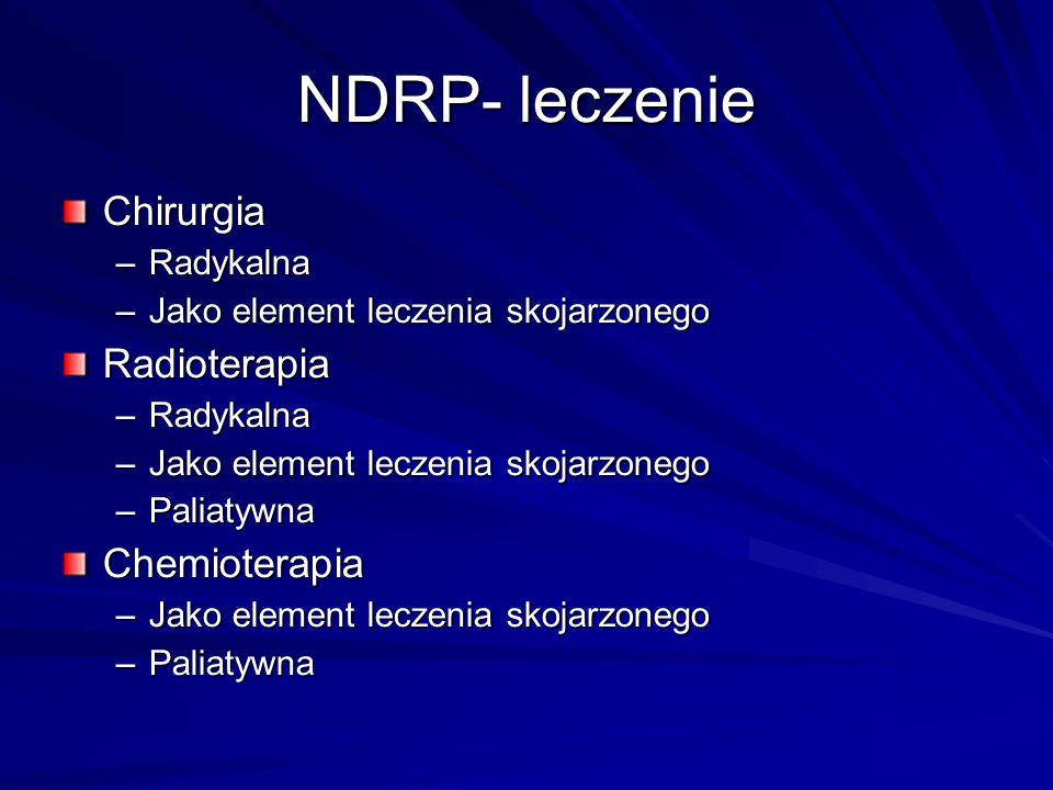 NDRP- leczenie Chirurgia Radioterapia Chemioterapia Radykalna