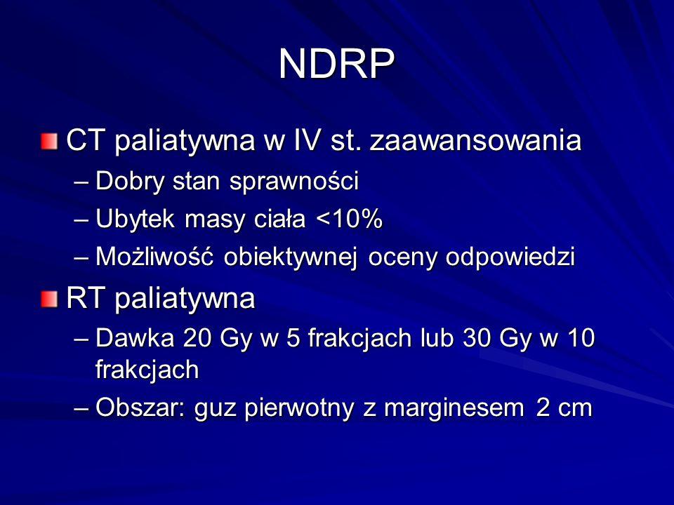 NDRP CT paliatywna w IV st. zaawansowania RT paliatywna