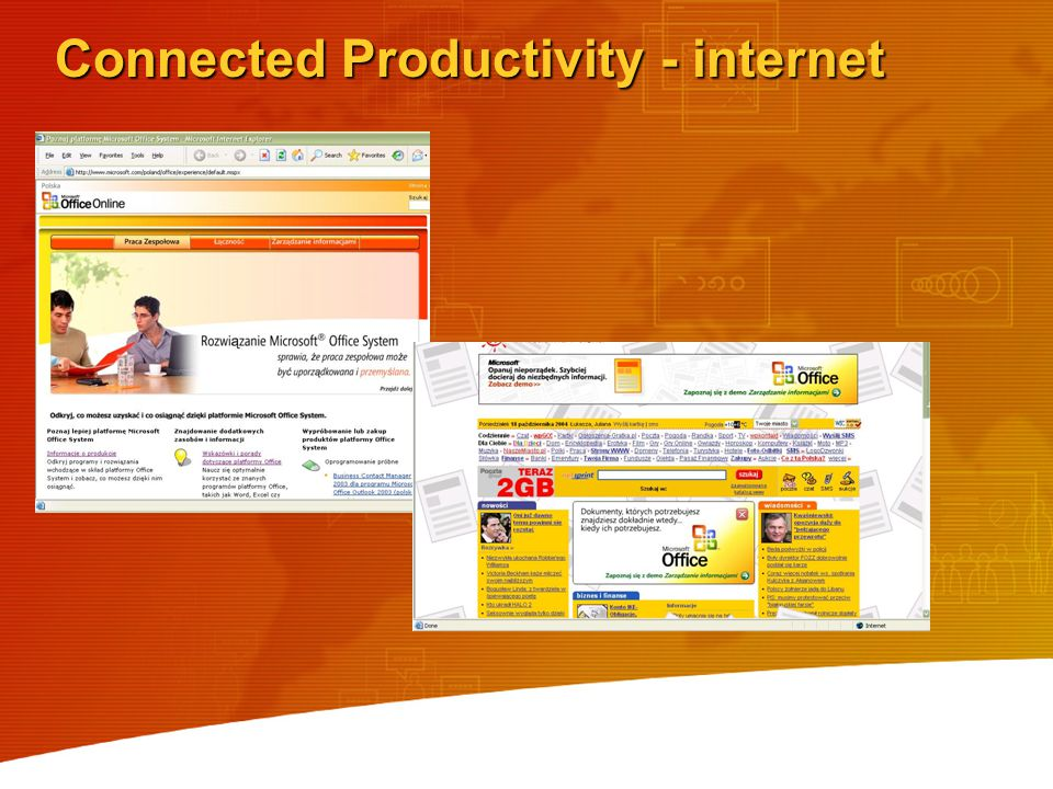 Connected Productivity - internet
