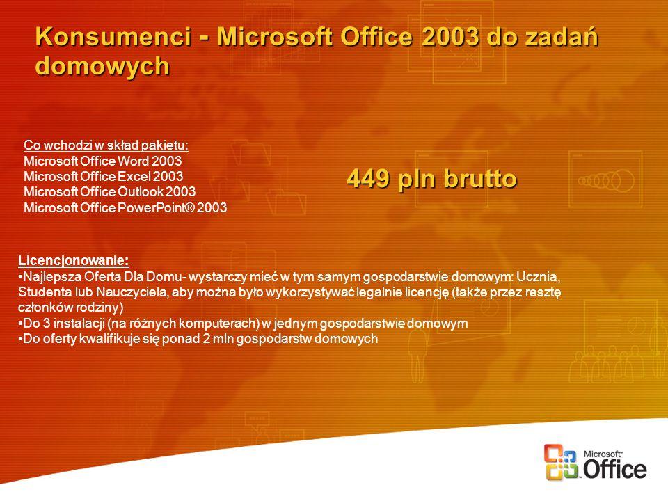Konsumenci - Microsoft Office 2003 do zadań domowych