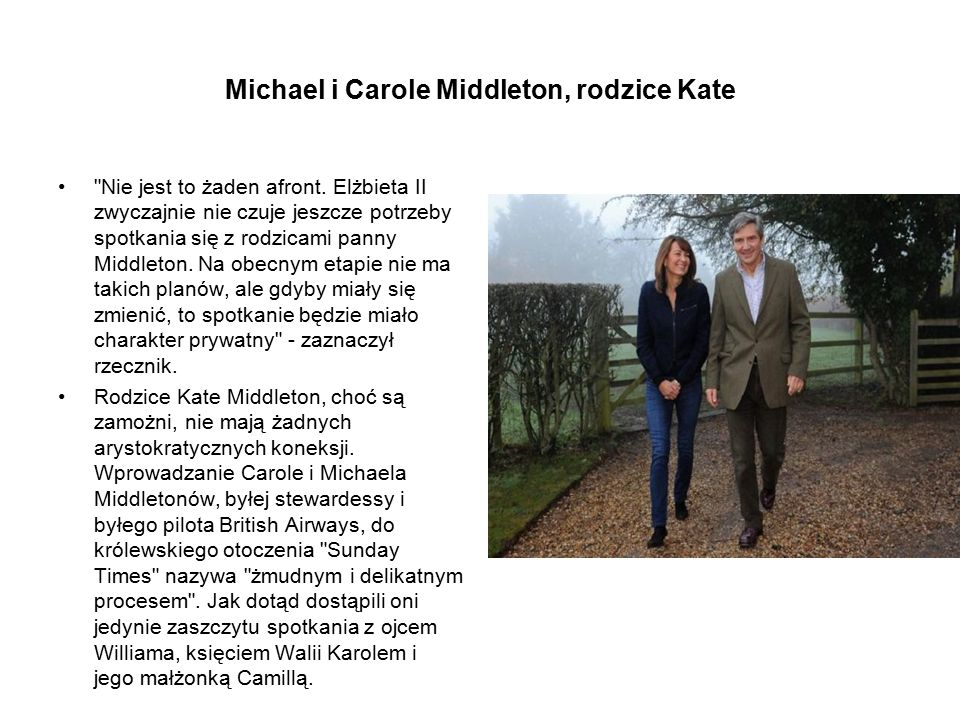 Michael i Carole Middleton, rodzice Kate