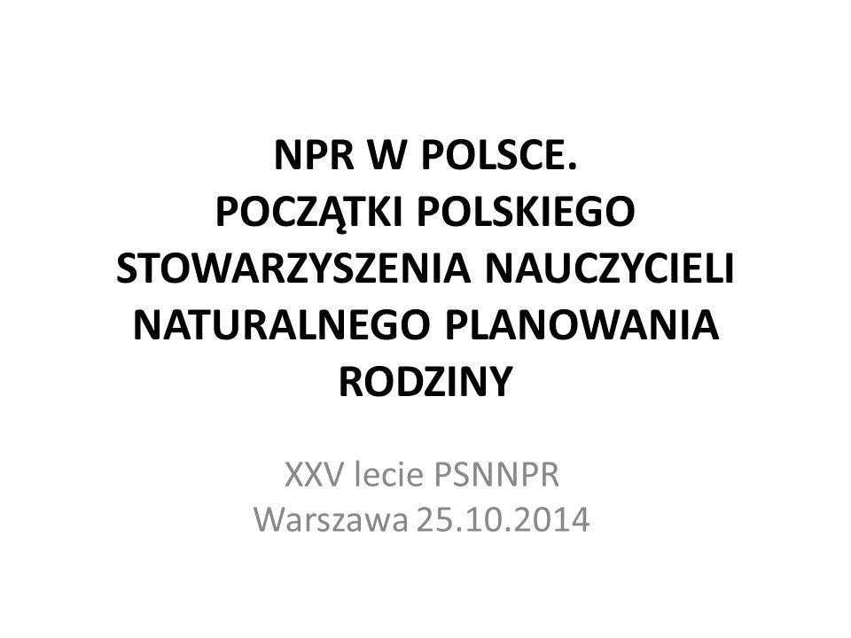 XXV lecie PSNNPR Warszawa 25.10.2014