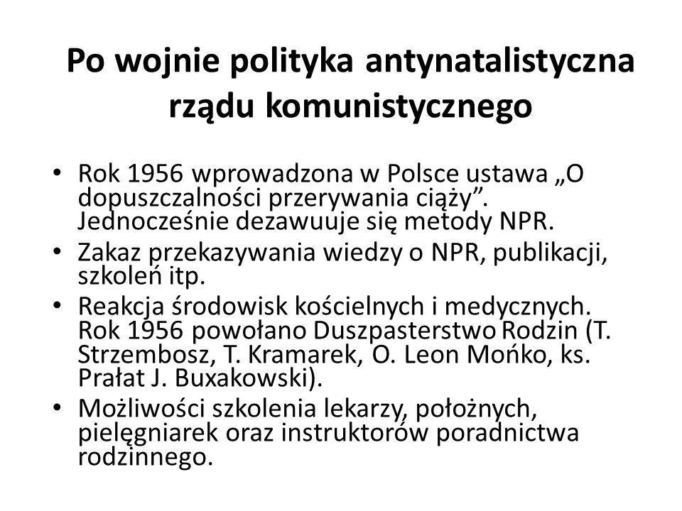 Po wojnie polityka antynatalistyczna rządu komunistycznego