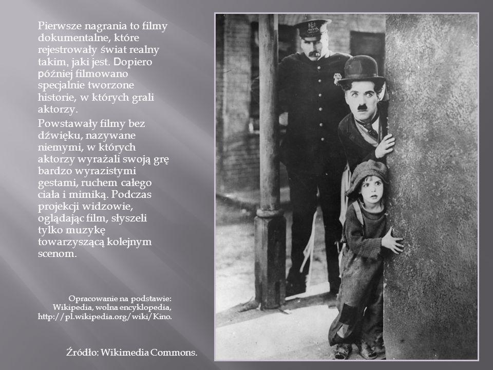 Pierwsze nagrania to filmy dokumentalne, które rejestrowały świat realny takim, jaki jest. Dopiero później filmowano specjalnie tworzone historie, w których grali aktorzy.