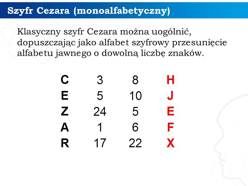 Szyfr Cezara (monoalfabetyczny)