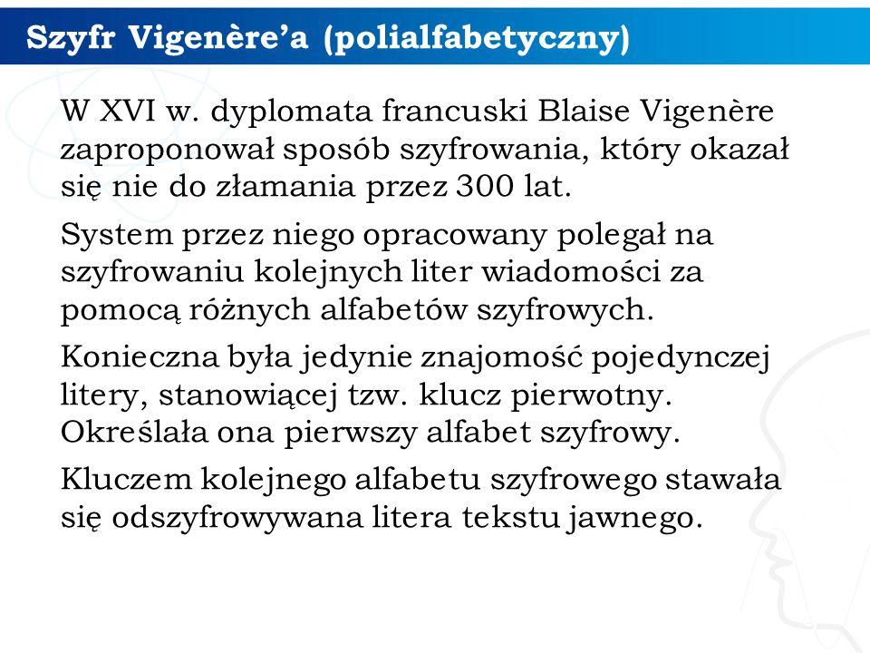Szyfr Vigenère'a (polialfabetyczny)