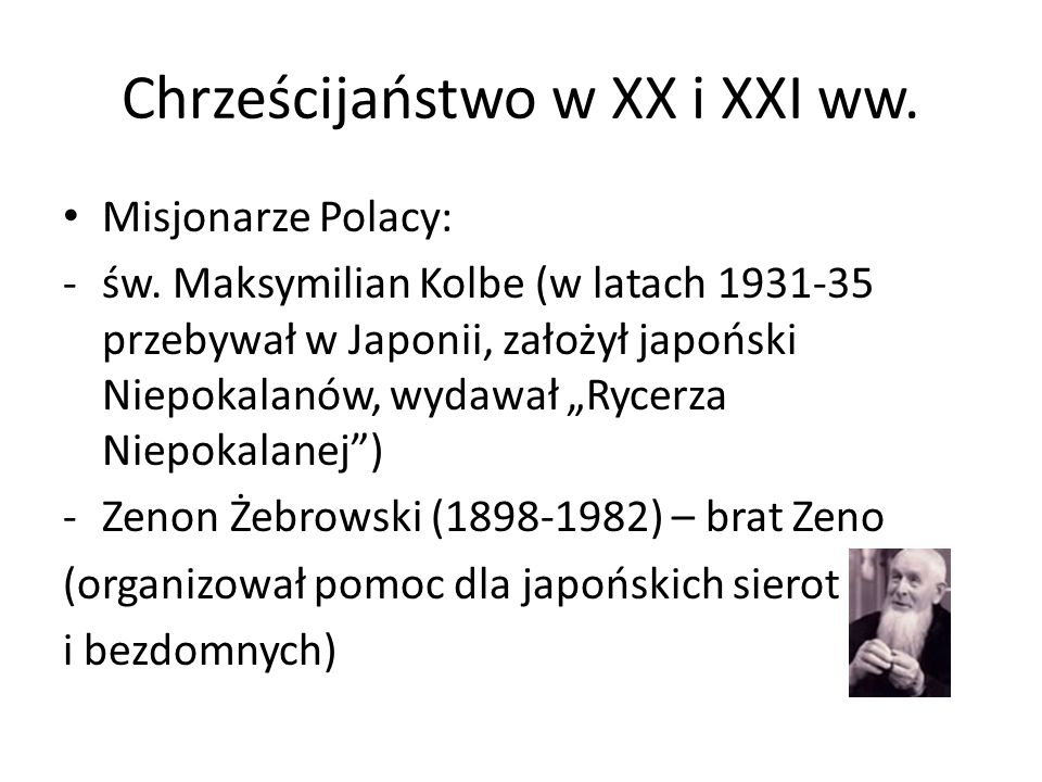 Chrześcijaństwo w XX i XXI ww.