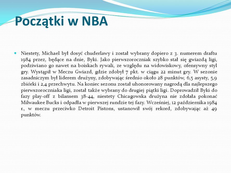 Początki w NBA