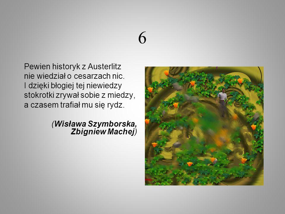 6 Pewien historyk z Austerlitz nie wiedział o cesarzach nic.