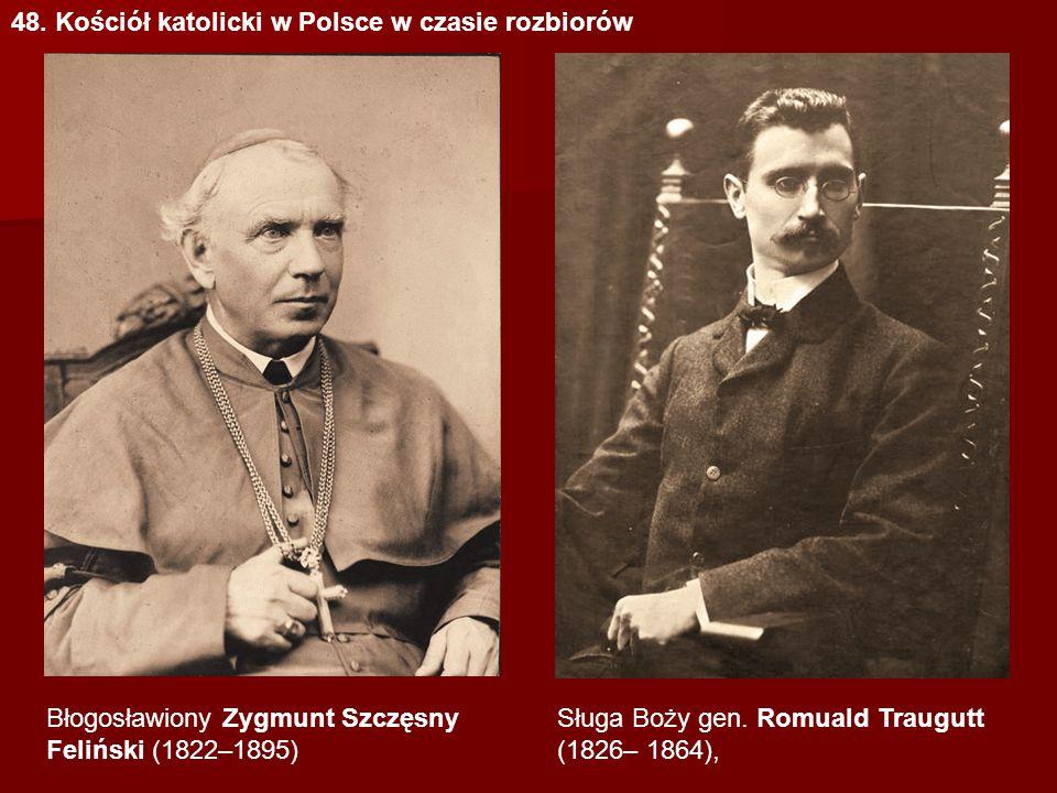 48. Kościół katolicki w Polsce w czasie rozbiorów