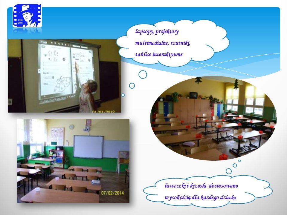 laptopy, projektory multimedialne, rzutniki, tablice interaktywne