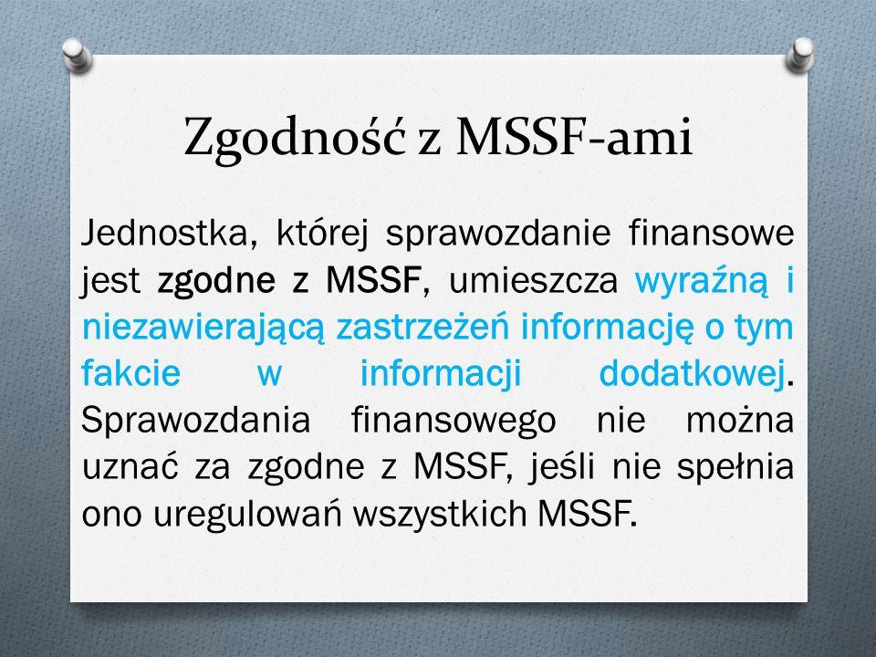 Zgodność z MSSF-ami