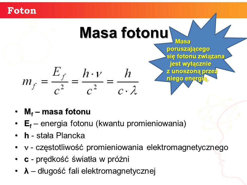Masa fotonu Foton Mf – masa fotonu