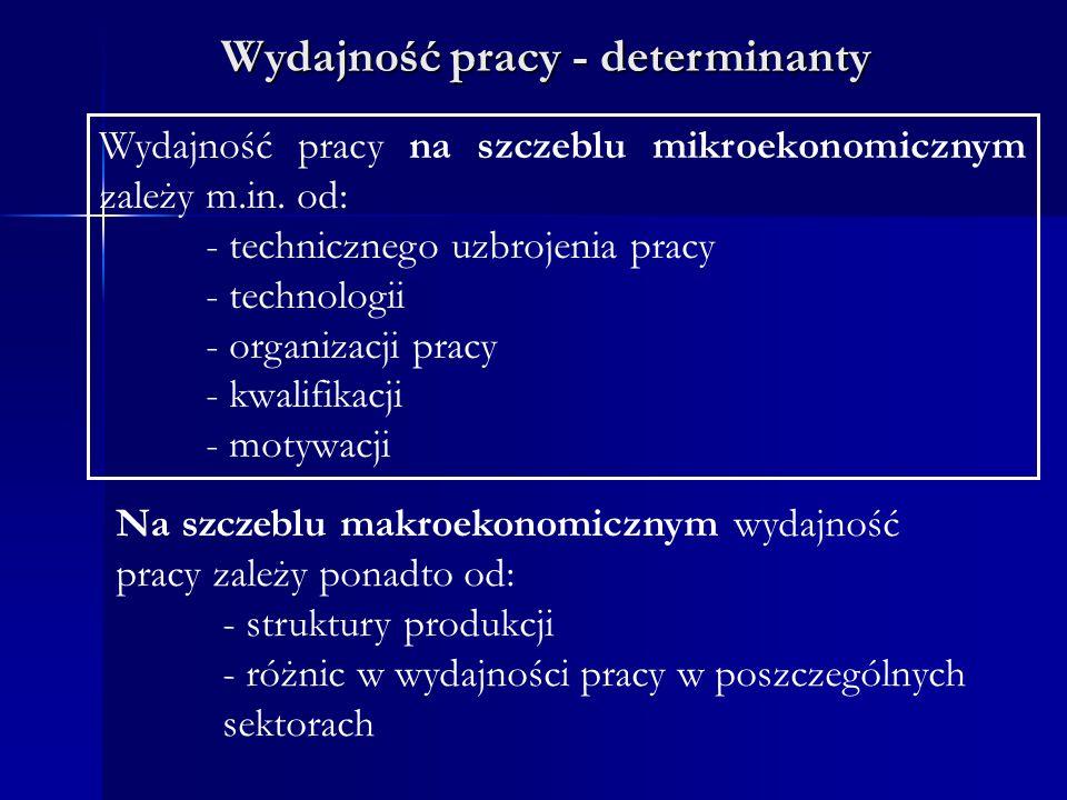 Wydajność pracy - determinanty