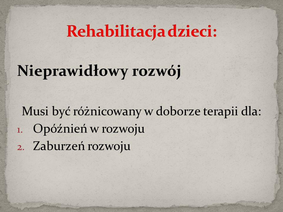 Rehabilitacja dzieci: