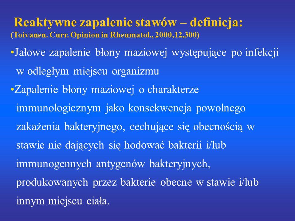 Reaktywne zapalenie stawów – definicja: