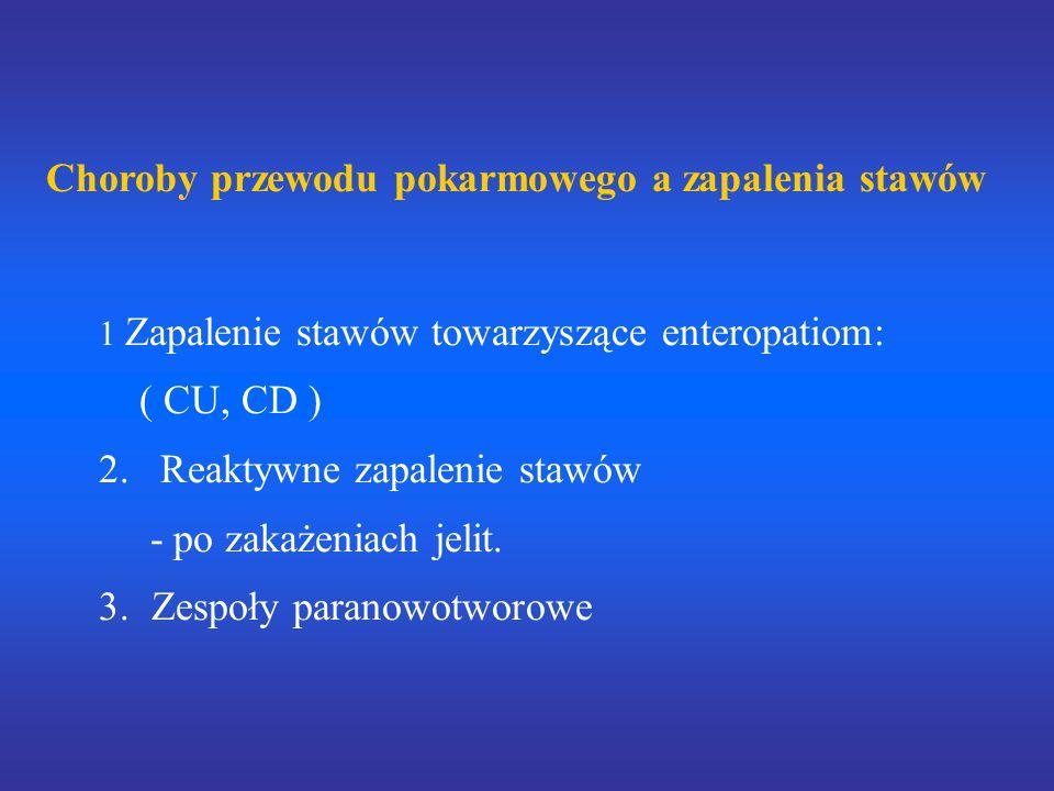 Choroby przewodu pokarmowego a zapalenia stawów