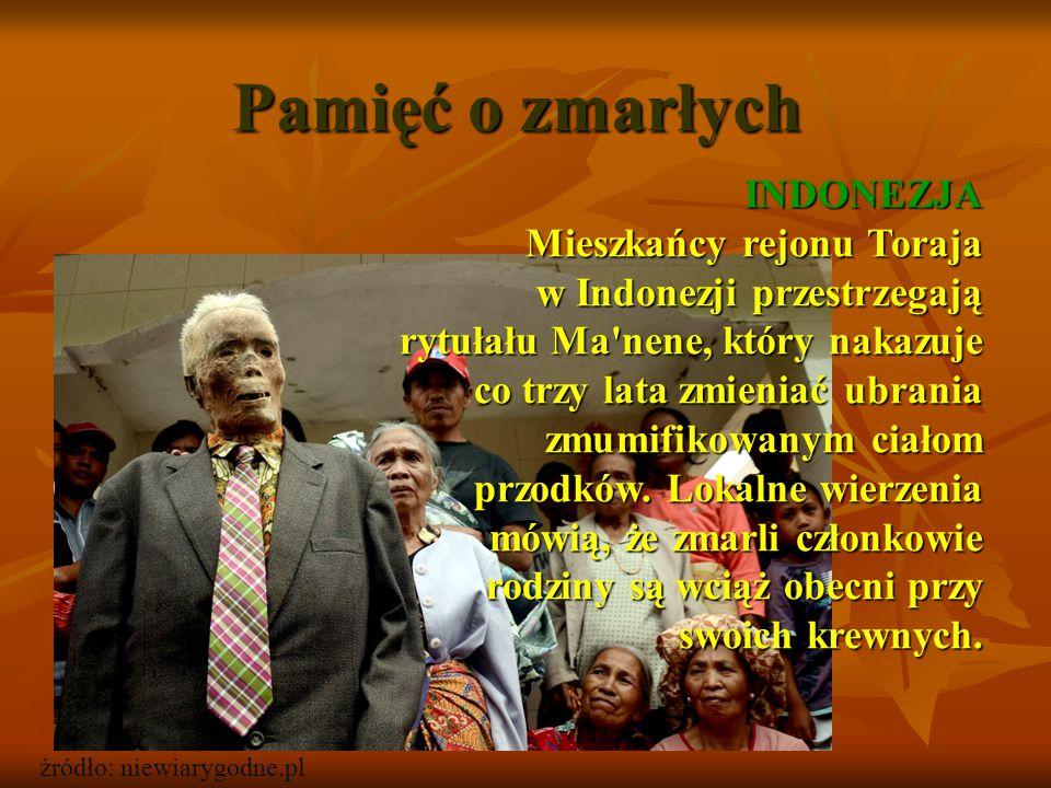 Pamięć o zmarłych INDONEZJA