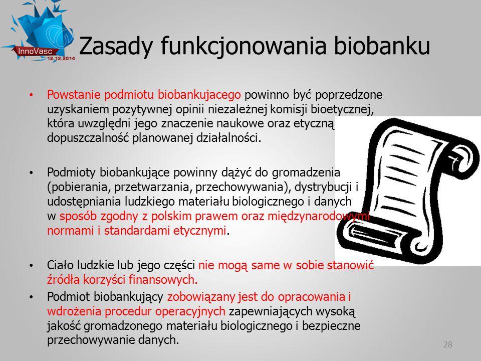 Zasady funkcjonowania biobanku