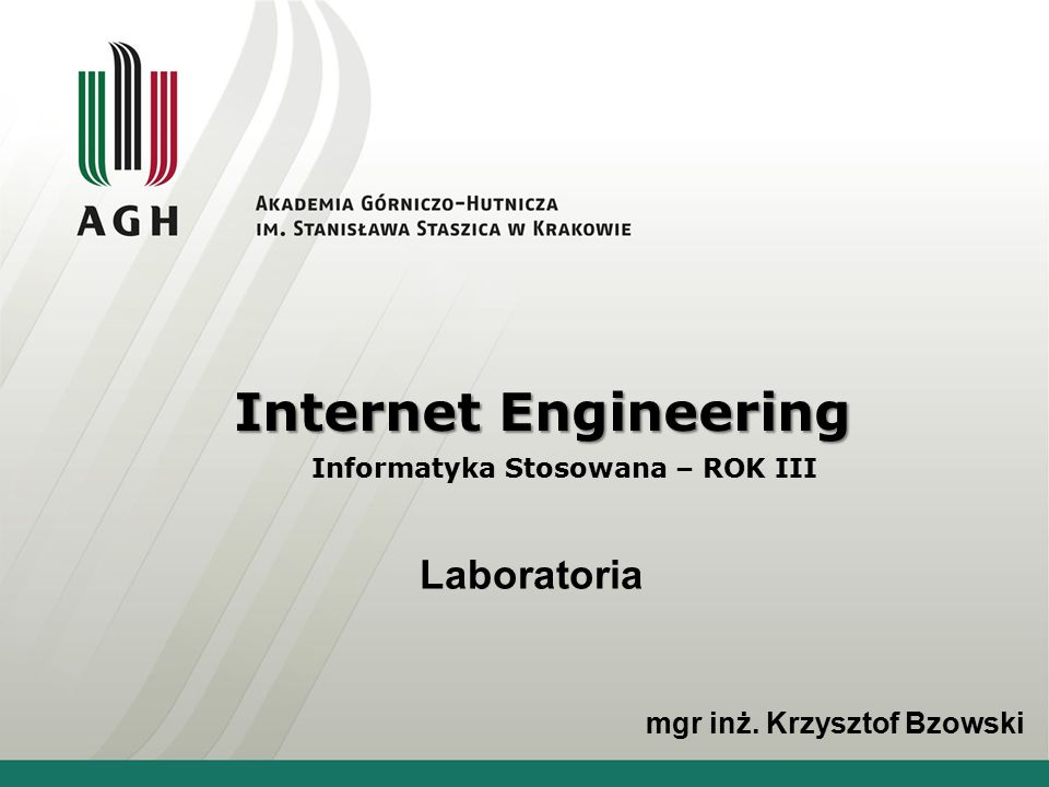 Informatyka Stosowana – ROK III