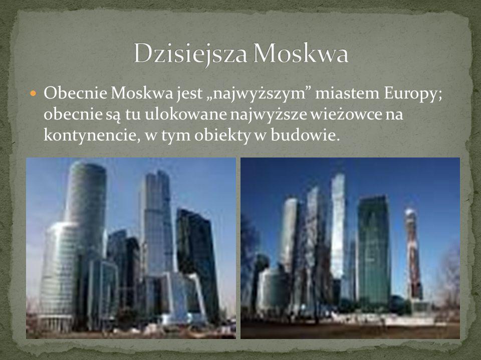 Dzisiejsza Moskwa