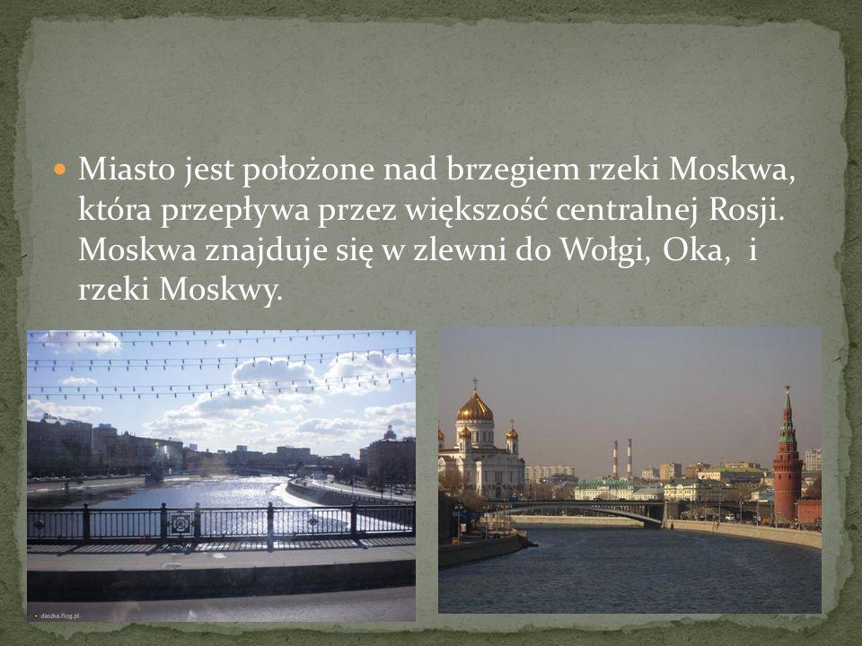 Miasto jest położone nad brzegiem rzeki Moskwa, która przepływa przez większość centralnej Rosji.