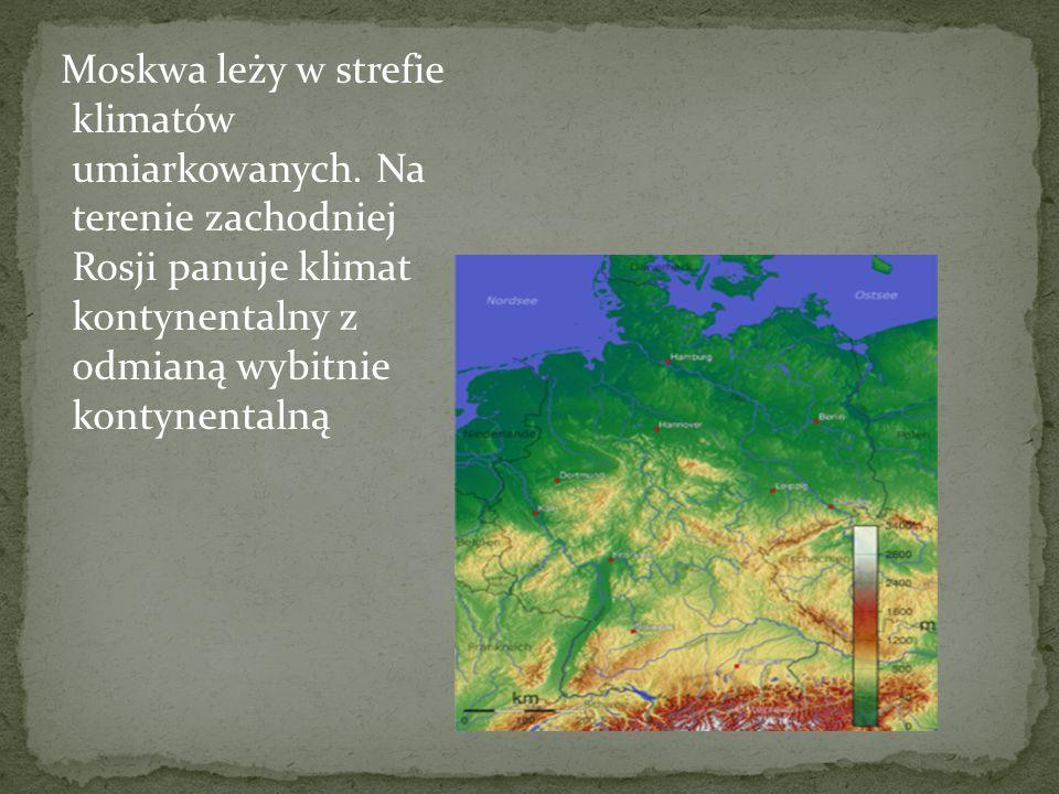 Moskwa leży w strefie klimatów umiarkowanych