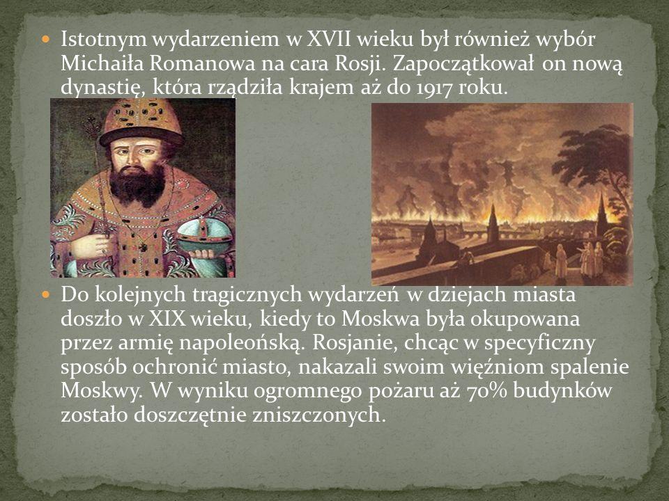 Istotnym wydarzeniem w XVII wieku był również wybór Michaiła Romanowa na cara Rosji. Zapoczątkował on nową dynastię, która rządziła krajem aż do 1917 roku.