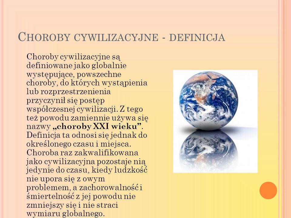 Choroby cywilizacyjne - definicja