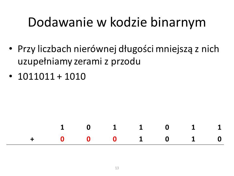 Dodawanie w kodzie binarnym