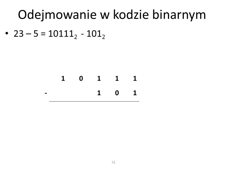 Odejmowanie w kodzie binarnym