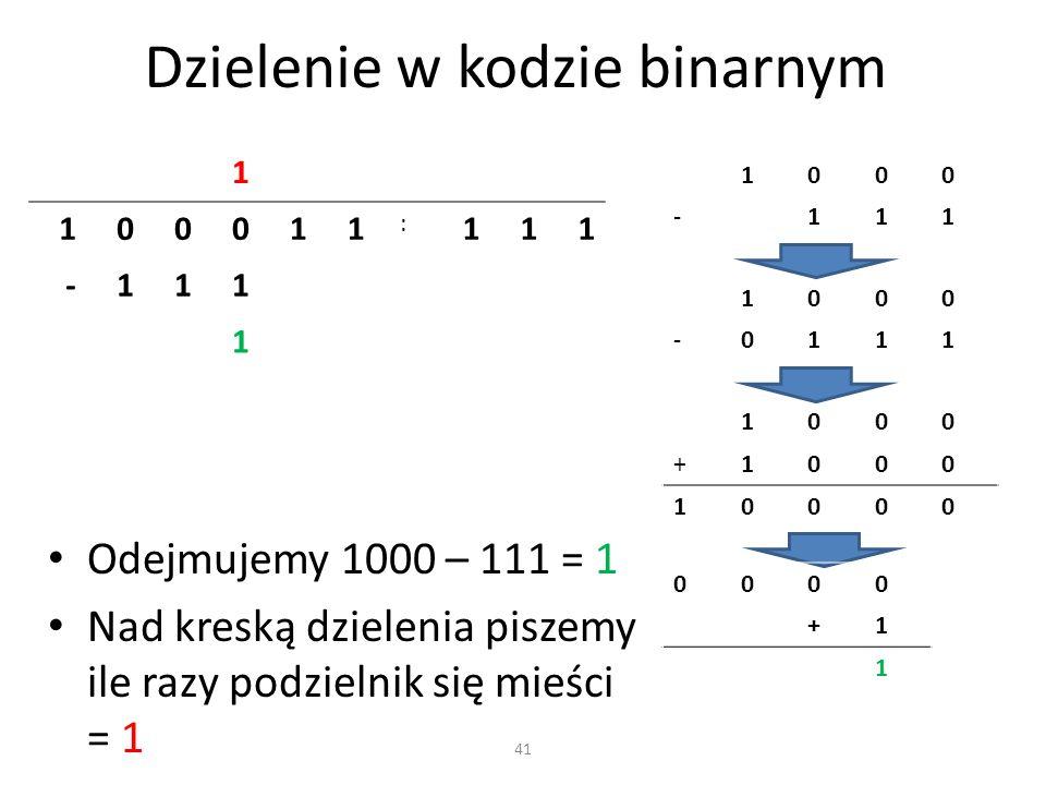 Dzielenie w kodzie binarnym