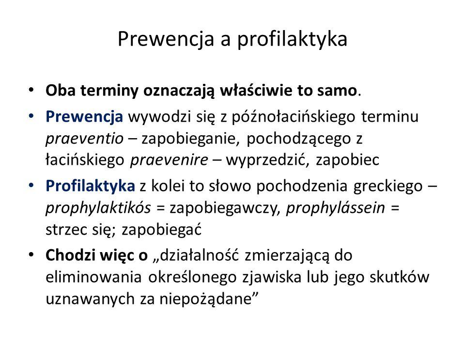 Prewencja a profilaktyka