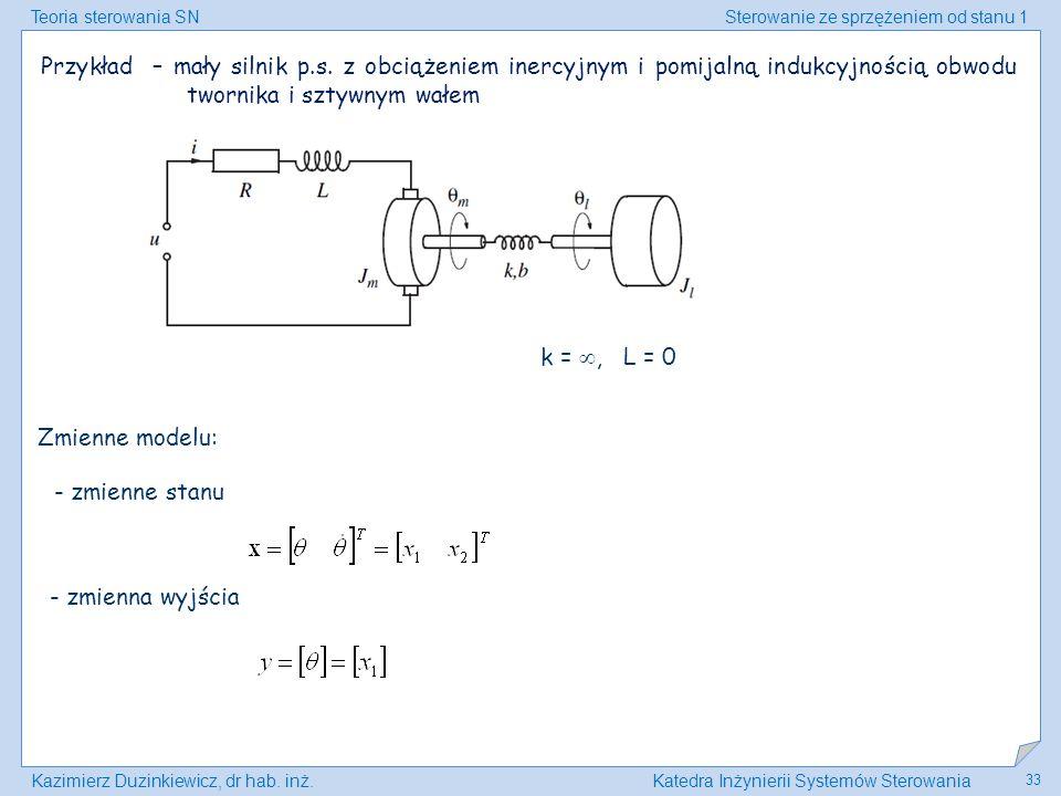 Przykład – mały silnik p. s