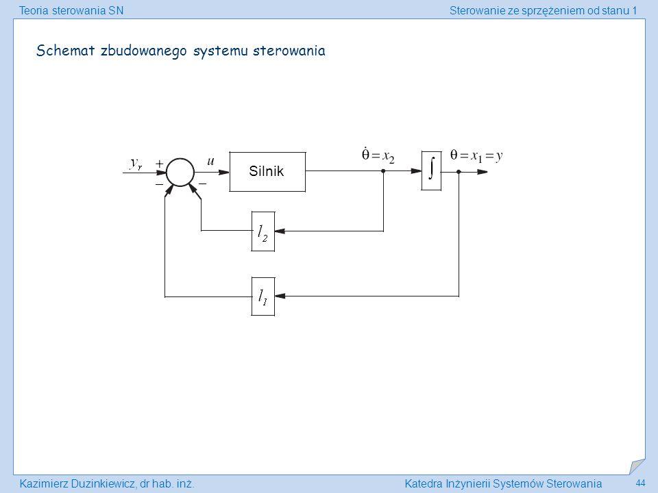 Schemat zbudowanego systemu sterowania
