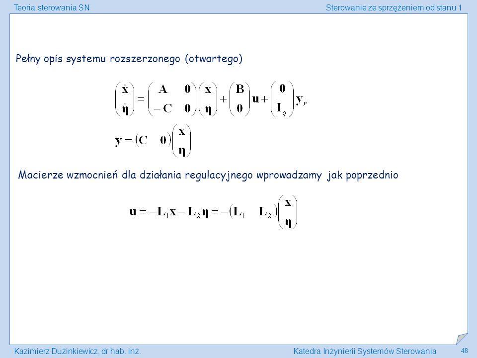 Pełny opis systemu rozszerzonego (otwartego)