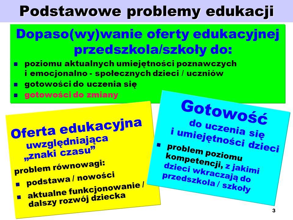 Podstawowe problemy edukacji