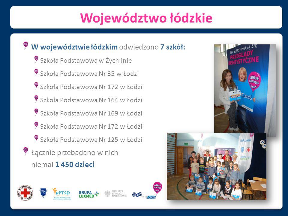 Województwo łódzkie W województwie łódzkim odwiedzono 7 szkół: