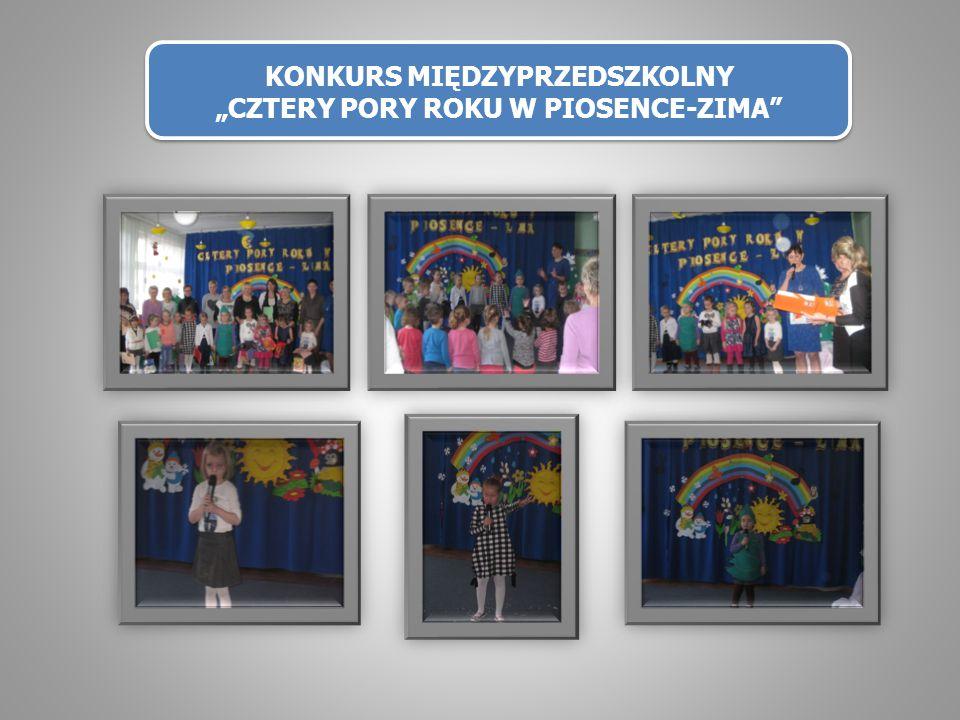 """KONKURS MIĘDZYPRZEDSZKOLNY """"CZTERY PORY ROKU W PIOSENCE-ZIMA"""