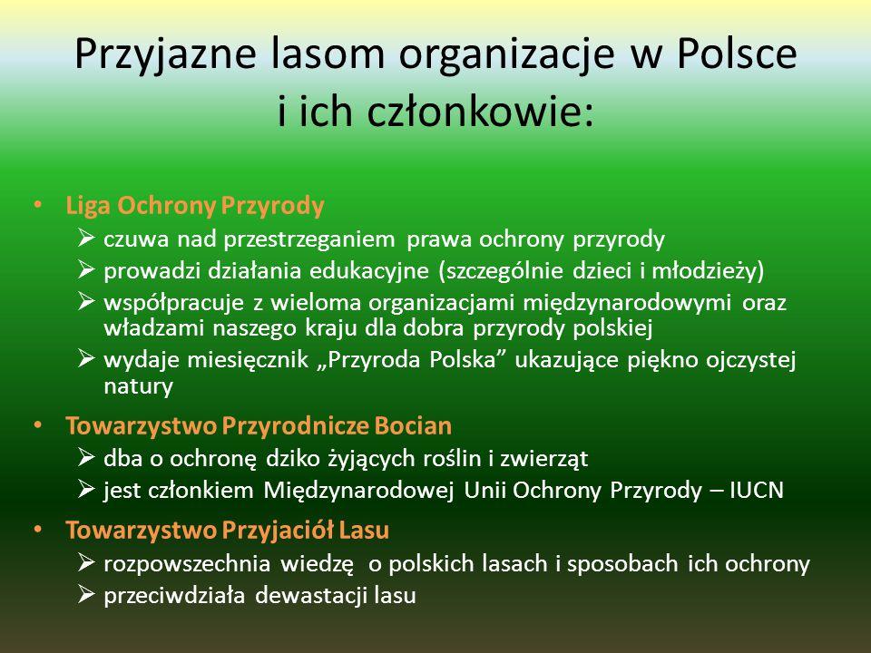 Przyjazne lasom organizacje w Polsce i ich członkowie: