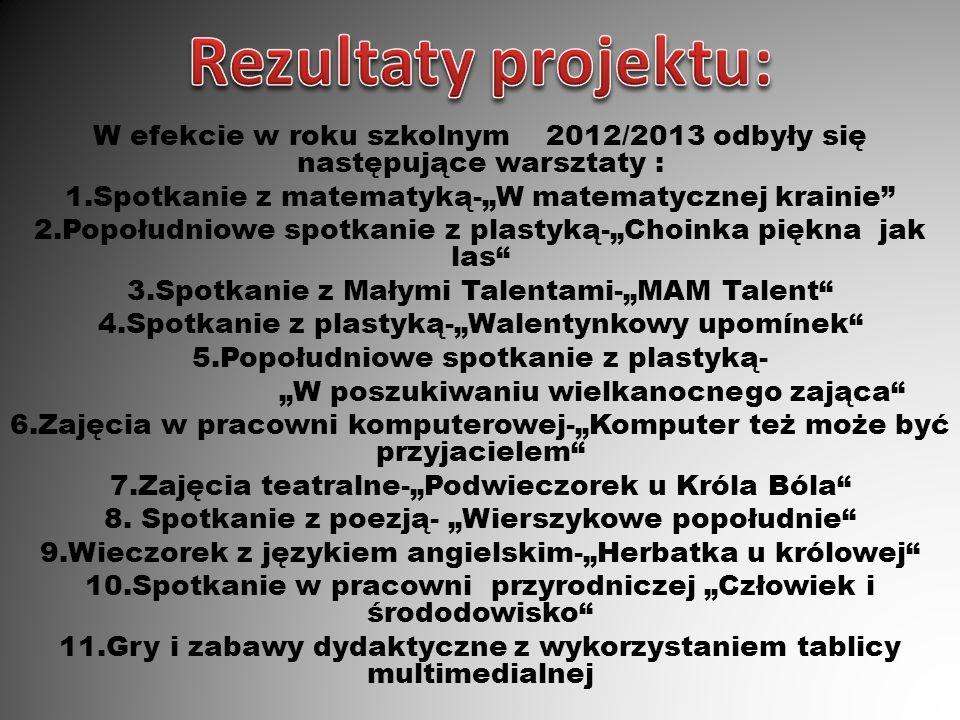 Rezultaty projektu: