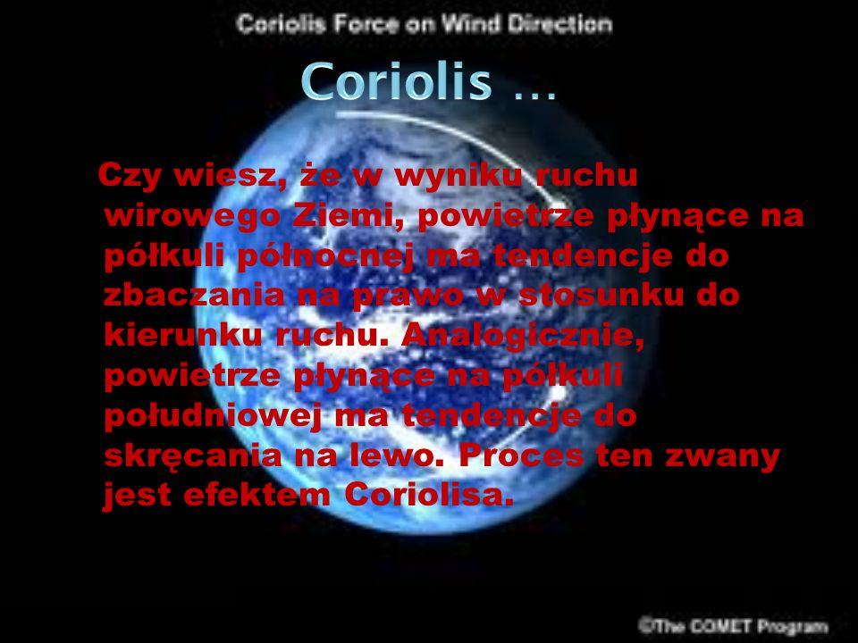 Coriolis …