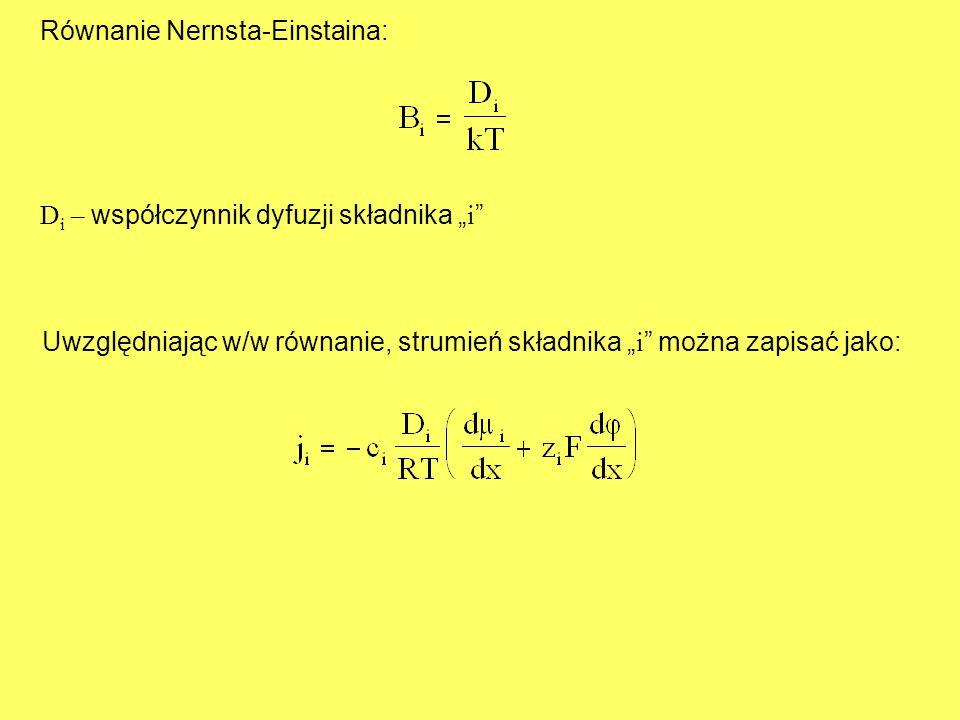 Równanie Nernsta-Einstaina: