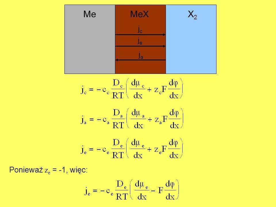 Me MeX X2 jc je ja Ponieważ ze = -1, więc: