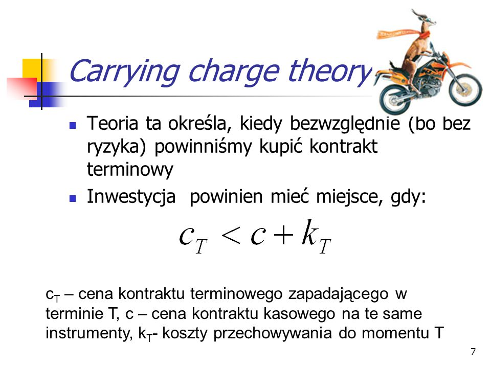 Carrying charge theory