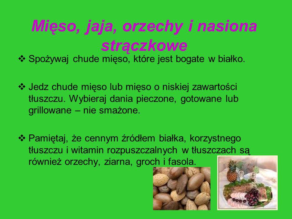 Mięso, jaja, orzechy i nasiona strączkowe