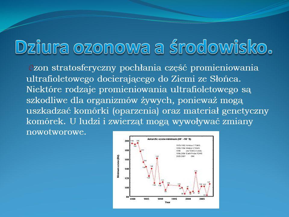 Dziura ozonowa a środowisko.