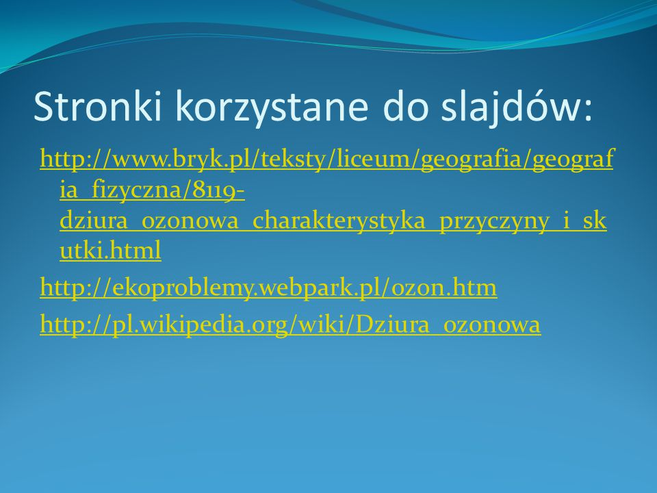 Stronki korzystane do slajdów: