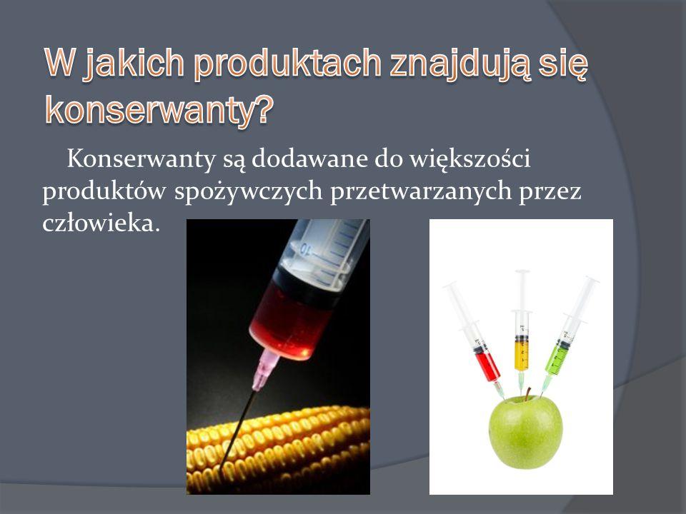 W jakich produktach znajdują się konserwanty