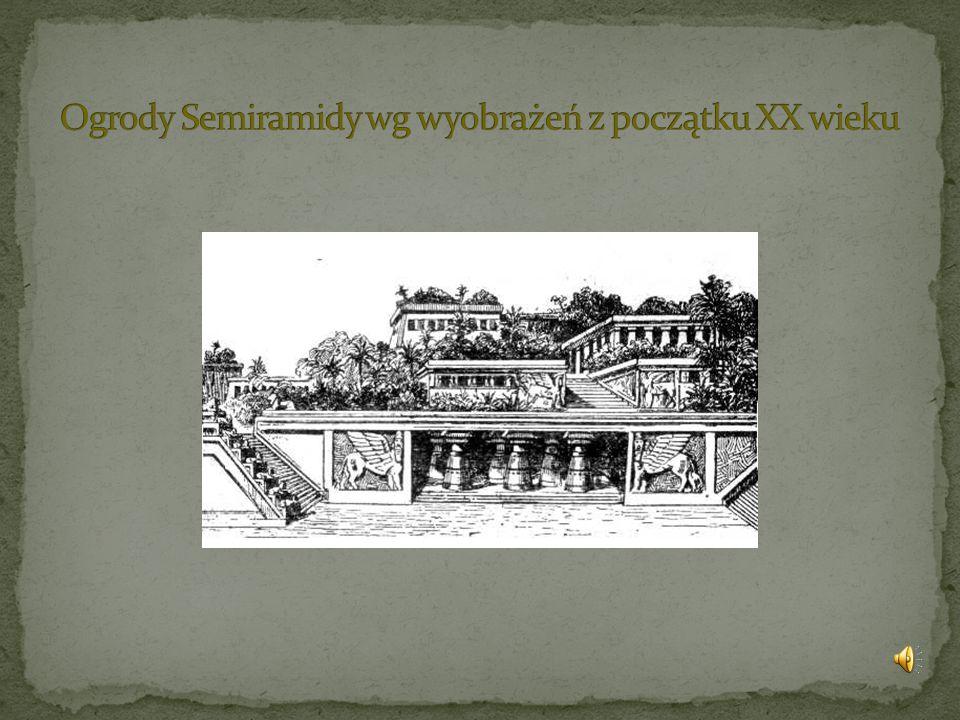 Ogrody Semiramidy wg wyobrażeń z początku XX wieku